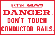 British Railways - Conductor Rail Replica Sign